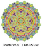 round symmetrical pattern in... | Shutterstock .eps vector #1136622050