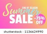 creative banner design fluid... | Shutterstock .eps vector #1136624990
