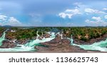 li phi waterfall in laos   tat ... | Shutterstock . vector #1136625743