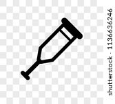crutch vector icon on... | Shutterstock .eps vector #1136636246