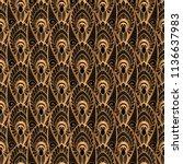 luxury background vector. gold... | Shutterstock .eps vector #1136637983