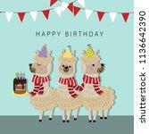 happy birthday greeting card... | Shutterstock .eps vector #1136642390