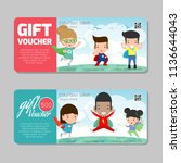 gift voucher template and... | Shutterstock .eps vector #1136644043