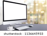 computer keyboard and mouse... | Shutterstock . vector #1136645933