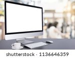computer keyboard and mouse... | Shutterstock . vector #1136646359