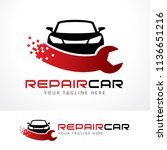 repair car logo template design ... | Shutterstock .eps vector #1136651216