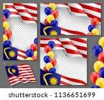 malaysian patriotic festive... | Shutterstock .eps vector #1136651699