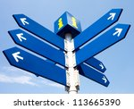 Blank Directional Road Signs...