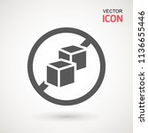 no sugar free vector icon.... | Shutterstock .eps vector #1136655446