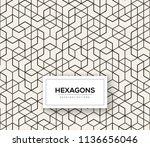 abstract seamless lattice... | Shutterstock .eps vector #1136656046