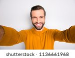 self portrait of handsome... | Shutterstock . vector #1136661968