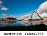 matagarup bridge   perth  ... | Shutterstock . vector #1136667593