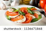 close up photo of caprese salad ... | Shutterstock . vector #1136671868
