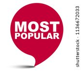 red vector bubble banner most... | Shutterstock .eps vector #1136672033