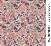 paisley vector seamless pattern.... | Shutterstock .eps vector #1136673029