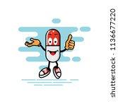capsule mascot presentation and ... | Shutterstock .eps vector #1136677220