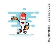 capsule mascot presentation... | Shutterstock .eps vector #1136677226