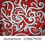 polinesian maori ethnic... | Shutterstock .eps vector #1136679230