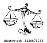 libra horoscope sign as a... | Shutterstock .eps vector #1136679233