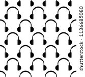 headphone icon seamless pattern ... | Shutterstock .eps vector #1136685080