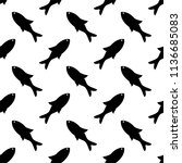 fish seamless pattern design...   Shutterstock .eps vector #1136685083