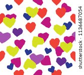 cutting hearts for valentine's... | Shutterstock .eps vector #1136687054