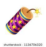 vector set of firecracker ...   Shutterstock .eps vector #1136706320