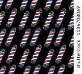 barbers pole seamless doodle... | Shutterstock .eps vector #1136708069
