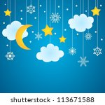 Vector Blue Background With...