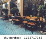 outdoor cafes in the shardeni...   Shutterstock . vector #1136717363