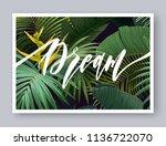 summer tropical vector design... | Shutterstock .eps vector #1136722070