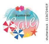 summer sale illustration | Shutterstock .eps vector #1136724419