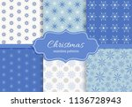 merry christmas and happy new...   Shutterstock .eps vector #1136728943