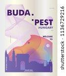 modern hungary budapest skyline ... | Shutterstock .eps vector #1136729216