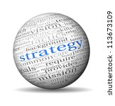 strategy and management concept ... | Shutterstock . vector #113673109