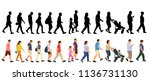 vector  isolated  set  crowd of ... | Shutterstock .eps vector #1136731130