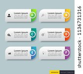 infographics design template 3d ... | Shutterstock .eps vector #1136731316