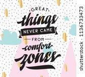 inspirational quote  motivation.... | Shutterstock .eps vector #1136733473