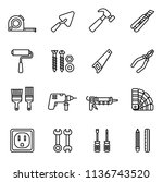 repair and construction tools... | Shutterstock .eps vector #1136743520