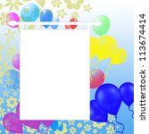 birthday background | Shutterstock . vector #113674414