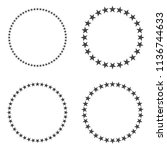 stars. round frame with... | Shutterstock .eps vector #1136744633