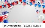labor day card design american... | Shutterstock .eps vector #1136746886