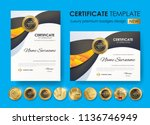 certificate template with... | Shutterstock .eps vector #1136746949