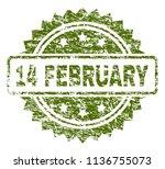 14 february stamp seal... | Shutterstock .eps vector #1136755073