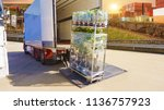 industry container   running on ... | Shutterstock . vector #1136757923