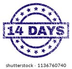 14 days stamp seal watermark... | Shutterstock .eps vector #1136760740