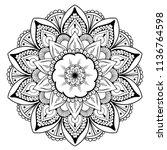 mandala vector design element.... | Shutterstock .eps vector #1136764598
