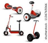 realistic self balancing gyro... | Shutterstock . vector #1136765066