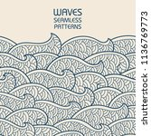 seamless abstract pattern.... | Shutterstock .eps vector #1136769773