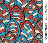 seamless abstract pattern.... | Shutterstock .eps vector #1136769953